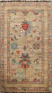 Vegetable Dye Super Kazak Oriental Floral Area Rug Hand-knotted Classic Wool 3x4