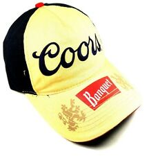 COORS LIGHT LOGO BANQUET BLACK & YELLOW HAT CAP ADJUSTABLE RETRO CURVED BILL