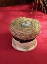 Vtg 1999 Hallmark Marjolein Bastin Bird Nest Love Begins With Mother Trinket Box