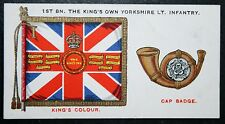 The King's Own Yorkshire Light Infantry  KOYLI  Original Vintage Insignia Card