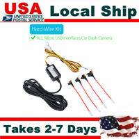 Micro USB Hard Wire Fuse Power Adapter Cable 5V~12V For Car Camera DVR Recorder