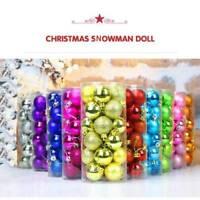 Tree Pendants 24Pcs Ornaments Bauble Shatterproof Christmas Decorative Ball