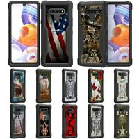 For LG Stylo 6 Rugged Heavy Duty Hard Fitted Hybrid Kickstand Shockproof Case