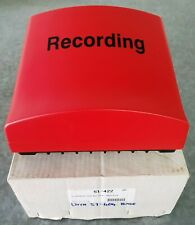 """Canford Audio """"Recording"""" sign with 51-404 Type B 230V base"""