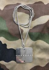 French Army & Foreign Legion Dog Tags / Identity disc - New, unused with chain