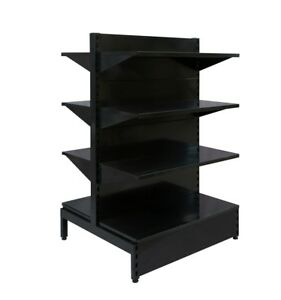 Retail Shelving 1430Hx900WDouble Sided -BLACK--Back in stock Mid March 2021