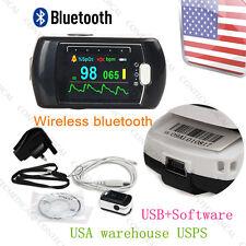 USA Finger tip Pulse Oximeter Blood Oxygen SPO2 Sleep Monitor,Alarm,Bluetooth SW