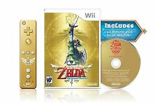NEW The Legend of Zelda: Skyward Sword Gold Remote Bundle (Nintendo Wii, 2011)