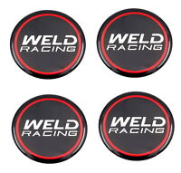 SET OF 4 WELD RACING 601-3010 EMBLEM STICKER 50MM DIA FOR WHEEL RIM CENTER CAPS
