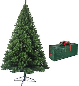 7ft Green Artficial Christmas Tree W/Metal Stand Free Storage Bag Xmax Dcoration