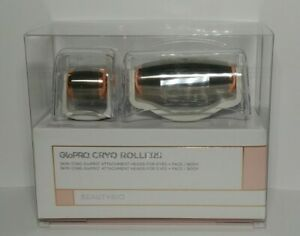BeautyBio GloPRO Skin Icing Cryo Roller Duo Attachment Heads Eyes + Face & Body!
