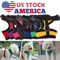 Pet Control Harness for Dog Cat Puppy Soft Walk Collar Safety Strap Mesh Vest US