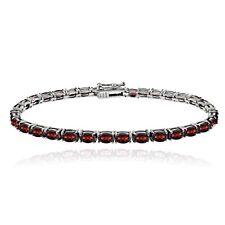"925 Silver 10.5ct Garnet Birthstone Tennis Bracelet, 7.5"""
