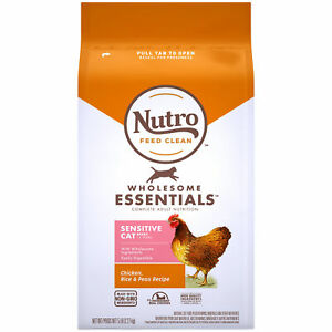 Nutro Natural Dry Cat Food, Sensitive Cat Chicken, Rice & Peas Recipe, 5 lb. Bag