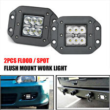 2PCS LED PODS FLUSH MOUNT WORK LIGHT OFFROAD ATV SUV 4WD BACK BUMPER SPOT FLOOD