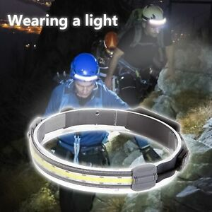 Head Lamp Rechargeable Warning Red Light Stable Fashion for Hiking