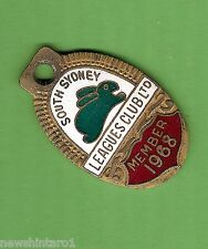 1968   SOUTH SYDNEY   RUGBY  LEAGUE  CLUB MEMBER  BADGE #9669