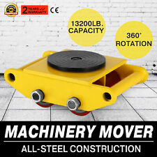 13200lb 6t Machinery Mover Roller Dolly Skate W/360° Swivel Top Plate Ship