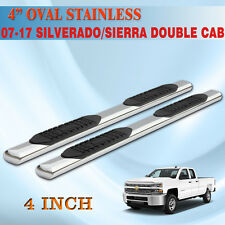 """FIT 14-17 Chev Silverado extended Cab 4"""" Running Board Side Step Nerf Bar Chrome"""