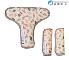 Keep Me Cosy® Pram Harness Strap Covers + Buckle Cosy*(patented) - Paper Boat