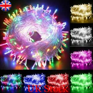 Mains Plug in Fairy String Lights W/ 1000 LED Clear Cable for Christmas Tree UK