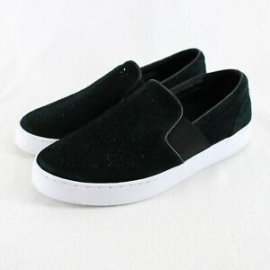 Vionic Kani Slip On Sneaker Womens Sz 8 Black Suede Perforated Comfort Shoes