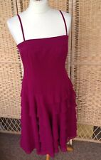 JASPER CONRAN 12 Burgundy Purple Dress Strappy Debenhams Strapless Occasion Prom