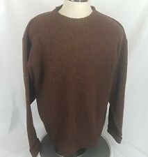 Pendleton 100% Shetland Wool Crewneck Sweater Men's XL Dark Oatmeal