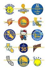"GOLDEN STATE WARRIORS BOTTLE CAP IMAGES 15 1"" CIRCLES  *****FREE SHIPPING*****"