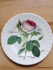 Roy Kirkham Kuchenteller redouté roses Rosenmotiv