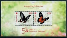 Singapore 2019 Butterflies MS of Two Issued Jointly with the Philippines MNH