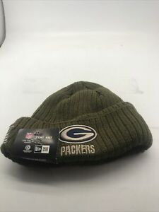 Packers Greenbay Salute to Service New Era On Field Knit Beanie Hat NEW