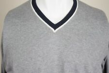 XL Men's Thomas Pink Sweater V-Neck Gray SHIPS TODAY OH248