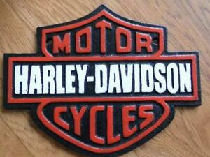 LARGE HEAVY CAST IRON WALL PLAQUE ADVERTISING SIGN HARLEY DAVIDSON MOTOR CYCLES