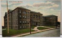Seattle Washington High School c1907 Postcard F3