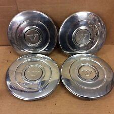 RARE 75-88 Volvo 240 D 240D 260 Steel Wheel Center Hub Cap 2 Parts SUPER CLEAN