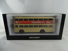 1:43 Minichamps #439071080 Büssing D2U Schultheiss Bier Limited Edition #