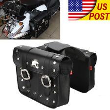 2 x Motorcycle Saddlebags Saddle Bags For Harley XL 883 1200 Hugger Sportster US