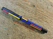 old Vintage 1993 IIIL GEOMETRIC Yellow Red Blue PARKER VECTOR ROLLERBALL PEN USA