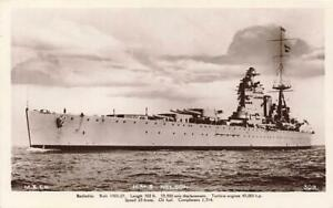 Early HMS NELSON  Navy Military  Mills & Co Photo Postcard