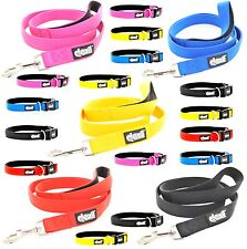 LIFETIME GUARANTEE Dexil Elite Range Neoprene Padded 4 6 Foot Dog Lead or Collar