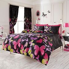 Papillon À La Mode Couette Taille King Couverture et Set Taie D'oreiller