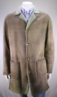 SERAPHIN France Soft Leather Mouton Shearling 3/4 Length Coat 42/Large