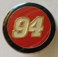 Number 94 Pin Badge Rare Sports (E4)