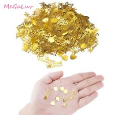 2pcs Just Married & Hearts Gold Silver Table Wedding Party Scatters Decor New