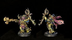 Warhammer 40K - Death Guard - Malignant Plaguecaster, well painted