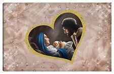 Quadro moderno 100x60 sacra famiglia madonna gesù capezzale stelle cuore oro