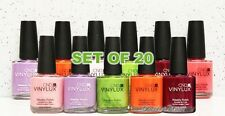 CND VINYLUX Weekly Polish Kit - SET OF 20 Colors Nail Lacquer LOT >> Ship 24H