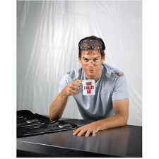 Dexter Michael C. Hall with blood spatter holding mug 8 x 10 Inch Photo