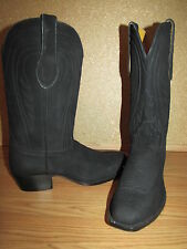 NWOB Handmade Black Suede Cowboy Boots - 8.5B European 39